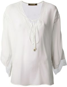 Roberto Cavalli sheer blouse on shopstyle.com