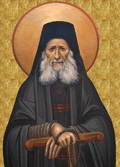 Elder Jiojef The Hesycast Byzantine Icons, Byzantine Art, New Saints, Catholic Saints, Religious Images, Religious Art, Archangel Raphael, Raphael Angel, Religion
