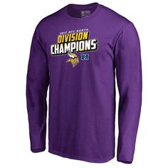 Minnesota Vikings NFL Pro Line by Fanatics Branded 2017 NFC North Division  Champions Long Sleeve T-Shirt – Purple 8b7fb14ee