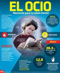 #SabíasQue contrario a la creencia, el ocio es un vicio necesario para la salud mental. #Infographic
