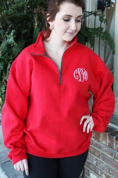Quarter Zip Sweatshirts with Monogram
