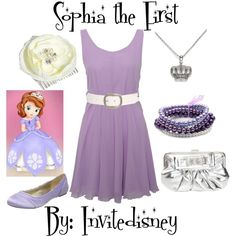 """Perfect outfit for mama at the Sophia bday party! @Ellie McNulty ;) """"Sophia the First"""" by invitedisney on Polyvore"""