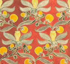 Passion Flower Textile, by C.F.A. Voysey © Victoria and Albert Museum / V Prints