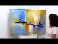 Pintura em Tela - Pintura em Telas Recicladas - Tela 3 - YouTube