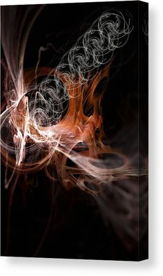 Orange Canvas Print featuring the mixed media Full Expression by Marvin Blaine
