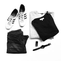 Black and white. #flatlay - OVRSLO