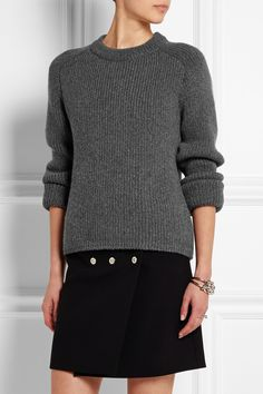 Balenciaga|Chunky-knit cashmere sweater|NET-A-PORTER.COM