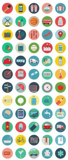 フラットデザインの無料イラストアイコン素材セットRoundicons Icon Set