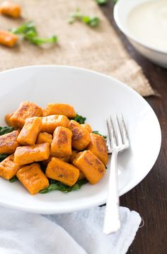 5 Ingredient Gluten-Free Sweet Potato Gnocchi (no eggs, vegan too)