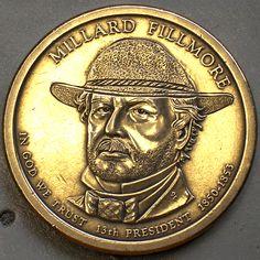 DAVID JONES HOBO DOLLAR - ALTERED MILLARD FILLMORE PRESIDENTIAL DOLLAR Millard Fillmore, Hobo Nickel, Coin Art, David Jones, Buffalo, Classic Style, Coins, Carving, Artist