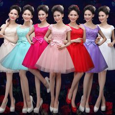 Women Ladies Short/Mini Bridesmaid Prom Ball Dress For Party Evening Wedding