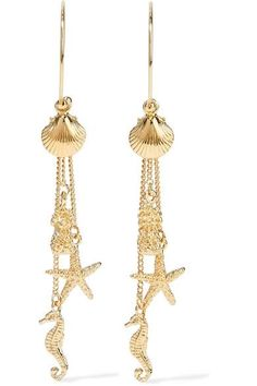 We sourced NET-A-PORTER for the latest essentials for our upcoming beach getaways and were not disappointed. Marie Claire, Gold Plated Earrings, Drop Earrings, What To Pack, Plating, Tropical, Delicate, Charmed, Chain