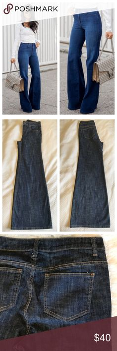NWOT ❤️ SUPER FLARE | BELL BOTTOM JEANS SIZE 10 New never used (no tags) high waisted dark demon super flare / bell Bolton jeans by LONDON JEAN (Victoria's secret) perfect condition, smoke free home. Bundle items to save. Not J BRAND, listed for exposure. ❤️ measures 15 inches across waist lying flat. 11 inch rise. 14 inch bell opening lying flat (28 inch total circumference) with an amazing floor grazing 35 inch inseam. Perfect for your tallest wedges!  J Brand Jeans Flare & Wide Leg