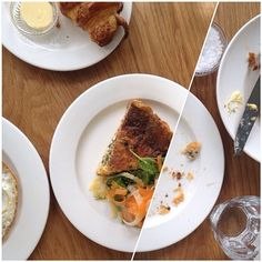 Stinging nettle, porcini & ricotta quiche with a raw vegetable salad (The London Plane - Seattle,  WA)