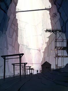 abandoned mine by ~guntama on deviantART