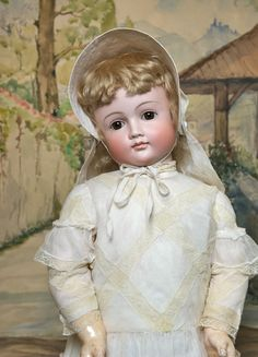 early closed mouth girl doll in a grand size