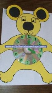 bear clock craft idea (9) Clock Craft, Kindergarten, Preschool Teachers, Lizzie Mcguire, Worksheets, Free Printables, Coloring Pages, Crafts For Kids, Bear