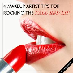 We LOVE a red pout and firmly believe that every girl should have red lipstick in her makeup bag. With the Fall season approaching, we've got some tips on rocking the red lip! After all, it never goes out of season.