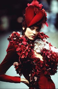 1996-97 - Galliano 4 Givenchy Couture -  Shalom Harlow