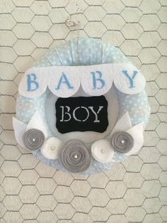 Baby Boy Blue PolkaDot Wreath by alittlewreath on Etsy