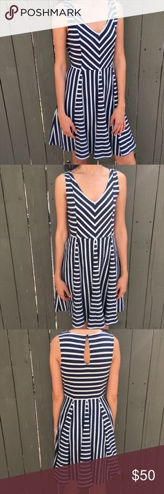 Anthropologie striped day dress! Saturday Sunday for anthropologie mint and navy striped dress! SOLD OUT! Excellent condition. Size small. Bundle and save! Anthropologie Dresses