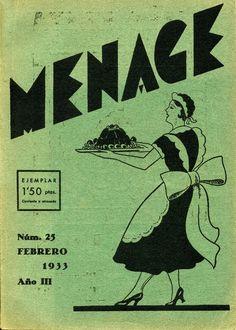 A la Revista Menage, En cada número hi trobem pàgines que tracten de temes ben diversos: hi ha lliçons de cuina dedicades a un plat, pàgines dedicades a la cuina infantil, a la salut i els aliments, propostes de menús, també de menús vegetarians.