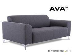 3-sed talianský design šedý AVA SIMPLY
