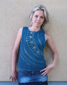Crochet Tank Top by Linda Skuja
