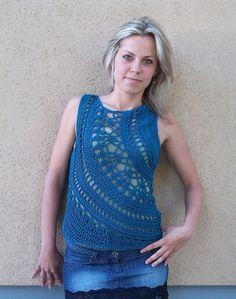 Crochet Tank Top by Linda Skuja