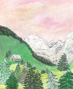 Giclee art print of my Austrian mountain scene, originally created in gouache. A4 (210 x 297mm) on Archival Smooth Matte paper. Ready to be mounted and framed, comes signed in pencil in protective cardboard. For more artworks, please check out my instagram here: