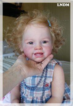 Reborn doll ,full vinyl toddler baby girl, Prototype, OOAK, Tiffany Susan Lippl