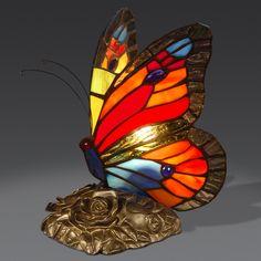 AB08010 butterfly Tiffany style lamp www.artedalmondo.it