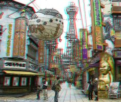 GRAPHIC CITY - Shinsekai 3d Pictures, Glitch, View Photos, Supreme, Red And Blue, 3 D, City, Drawings, Anime