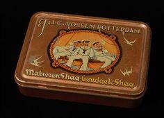 tabaksblik met los deksel van Van Rossem, productnaam Matrozen Shag