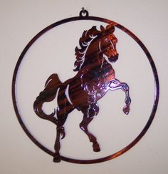 Window Wall Art Laser Cut Steel Rearing Horse High Spirits