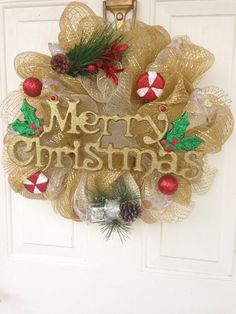 Hey, I found this really awesome Etsy listing at https://www.etsy.com/listing/167987452/gold-and-white-12-inch-merry-christmas
