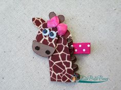 Hey, I found this really awesome Etsy listing at https://www.etsy.com/listing/127539792/giraffe-ribbon-sculpture-hair-clip
