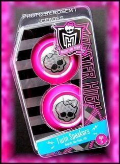 Twin Speakers To Amplify Your Music 10X! - Monster High Twin Speakers Amplify Your Music 10x by Monster High. $63.63. 1 Year Manufacturer's Warranty. High Definition Sound. Compatible with: Laptop; Game Devices; iPod; and iPhone. Runs on 2AAA Batteries (not included). Twin Speakers to Amplify your Music 10x!. Monster High Twin Speakers Amplify Your Music 10xThis is a custom blinged Girly skull speaker set for your computer, Ipod, MP3 player etc. This REALLY bl...