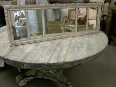 Empire table with mirror