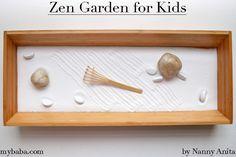 Zen Garden to Help Children Calm Down Sensory Bins, Sensory Activities, Activities For Kids, Calming Bottle, Diy Crafts For Kids, Arts And Crafts, Zen, Ikea I, Calming Music