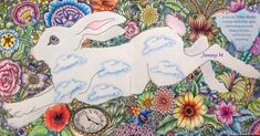 #escapetowonderland #goodwivesandwarriors #rabbit #colouredpencil #adultcoloringbook