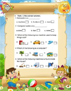 Colourful computer worksheet for grade 1 to understand different machines. Computer Lab Lessons, Computer Science Degree, Computer Projects, Computer Basics, Technology Lessons, Worksheets For Class 1, 2nd Grade Worksheets, Science Worksheets, Science Activities For Kids