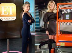 ET Canada host Cheryl Hickey in The Renata Dress and The Avion Dress Clothing Labels, Women's Clothing, Reversible Dress, Hockey Girls, Ice Hockey, Cheryl, Dress Pants, Feminine, Canada