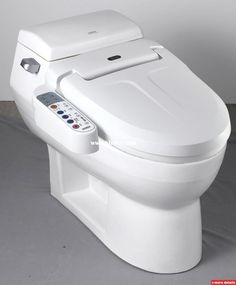 Electronic Bidet Toilet #DisabledBathroomTips >> Learn more at http://www.disabledbathrooms.org/toilet-bidet-combo.html