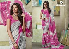 Looking for Pink and off white georgette digital printed sarees? Get it at Rs. 1069.00 from Laxmipati Saree Shopping today!  #Catalogues #SONPARI Price - Rs.1069.00  Visit for more designs@ www.laxmipati.com #ReadyToWear #OccasionWear #Ethnicwear #FestivalSarees #Fashion #Fashionista #Couture #SONPARI0816 #LaxmipatiSaree #autumn #winter #women #her #she #mystery #lingerie #black #lifestyle #life #ColoursOfIndia #HappyBride Laxmipati Sarees, Catalog Online, Saree Shopping, Printed Sarees, Buy Prints, Office Wear, Daily Wear, Bridal Collection, Kurti