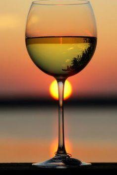 #whitewine  #sunset
