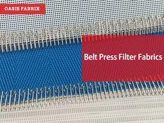 Belt press filter fabrics, Sludge dewatering fabrics for paper mills, ETPs, mines. By Oasis Fabrix. Paper Machine, Paper Industry, Paper Mill, Oasis, Filters, Fabrics, Belt, Tejidos, Belts