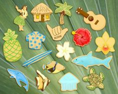 Adorable Hawaii Theme Cookie Cutters