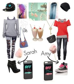 """""""Sarah and Amy at the Carnival"""" by batgirl-natasja on Polyvore featuring JFR, Boohoo, Soul Cal, Dolce Vita, Diesel, Converse, Nixon Watches, 1928 and Topshop"""