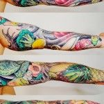 Fruits and Vegetables tattoo sleeve